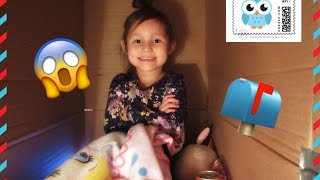 I Mailed Myself to Toys AndMe & it WORKED!!! 4 Year Old Sends Herself to Another YouTuber