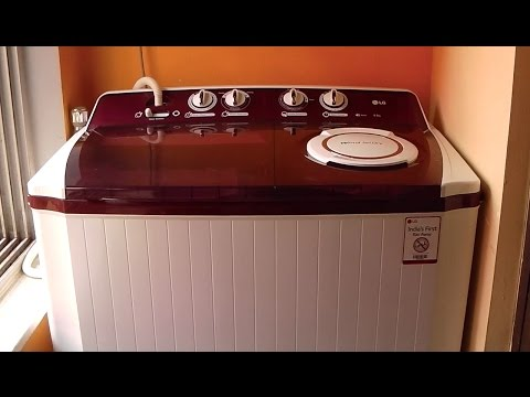 LG P1515R3SA Semi-automatic Top-loading Washing Machine (9.5 Kg, Burgundy)