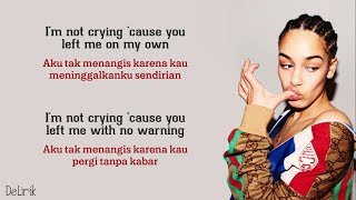 Don't Watch Me Cry - Jorja Smith (Lyrics Video Dan Terjemahan)