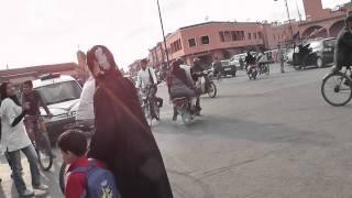 Crazy Traffic in Marrakech, Morocco