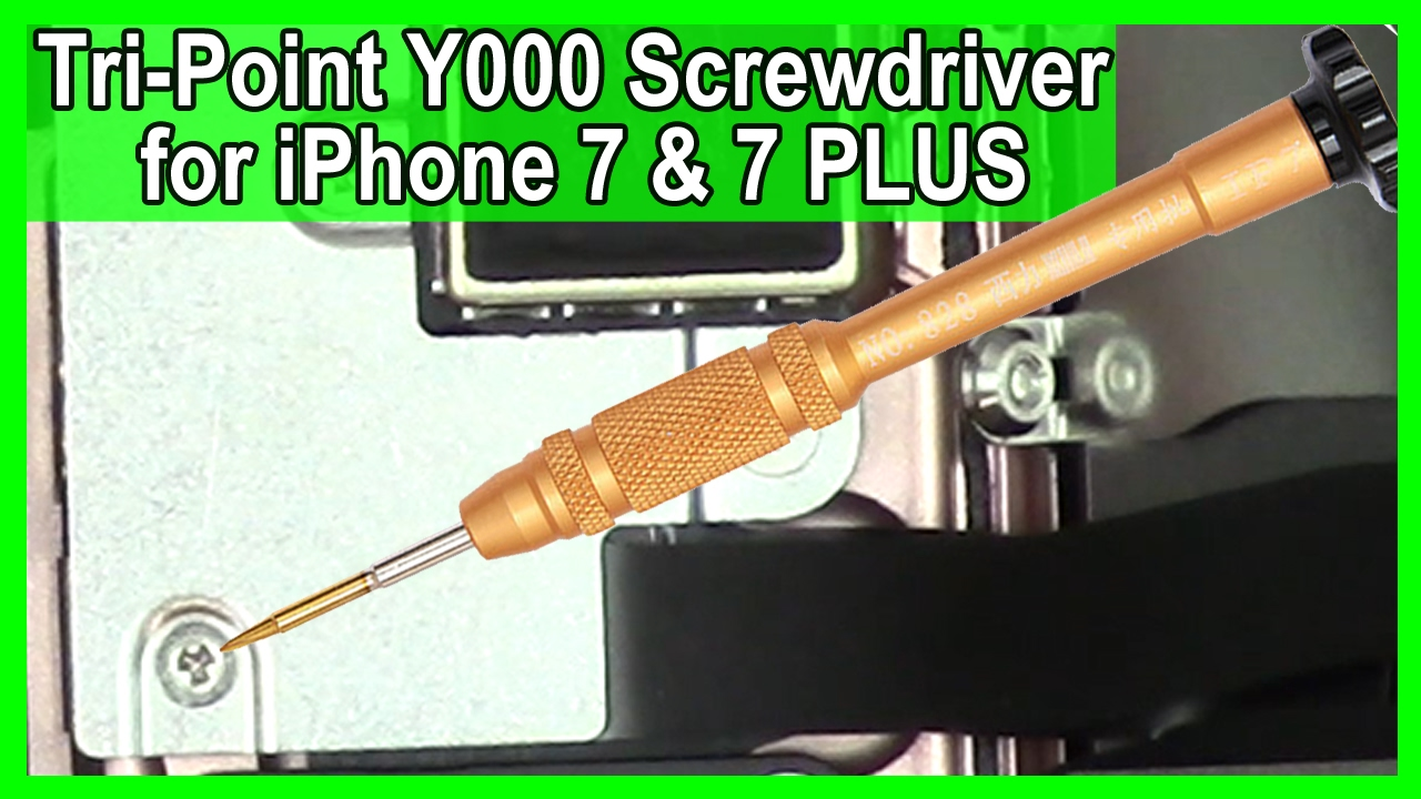 New Tri Point Y000 Screwdriver For Iphone 7 And 7 Plus Youtube For internal 'tri' screws only. new tri point y000 screwdriver for iphone 7 and 7 plus