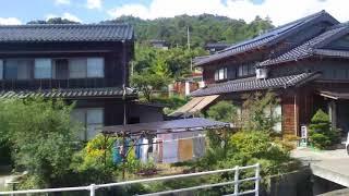 宮津~天橋立駅、京都丹後鉄道宮豊線、進行方向左側車窓から