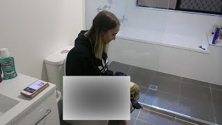 SUPER GLUED MY PREGNANT GIRLFRIEND TO THE TOILET