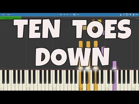 Ten Toes Down Challenge  Piano Tutorial  Instrumental
