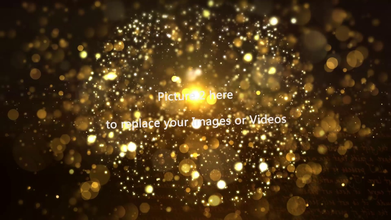 free after effect template gold particles postcard opening youtube