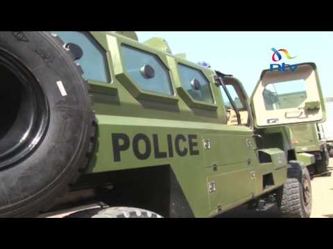 President unveils modern police vehicles meant to enhance security
