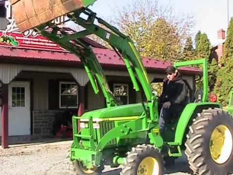John Deere Backhoe Attachment >> John Deere 990 Tractor 4x4 300CX Loader - YouTube