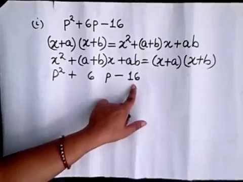 Factorisation Of Algebraic Expressions Youtube