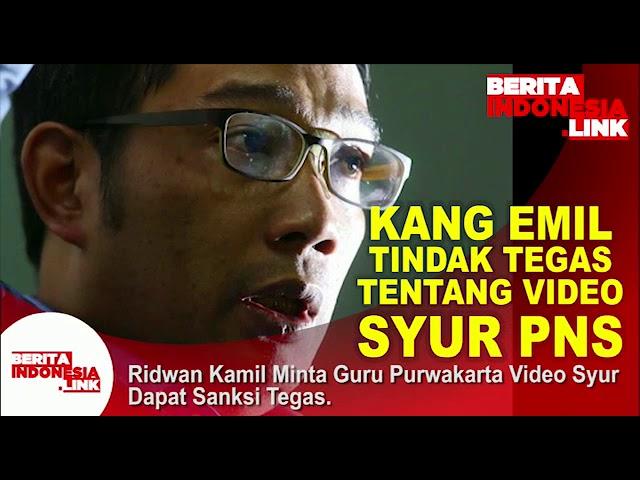 RIDWAN KAMIL minta tndak tegas pelaku Video Syur di Purwakarta,
