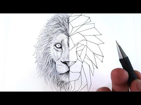 comment-dessiner-un-lion-style-:-géométrique-☯-(tuto)-☯