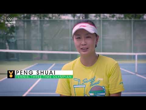 彭帅Peng Shuai. Two Handed Forehand.