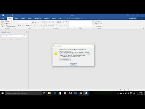 "Fix ""Word experienced an error trying to open the file"" in MS Office"