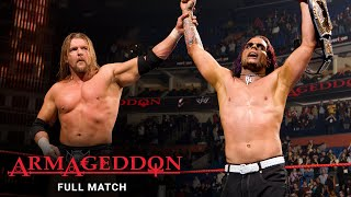 FULL MATCH - Edge vs. Jeff Hardy vs. Triple H: Armageddon 2008 - WWE Title Match: Armageddon 2008