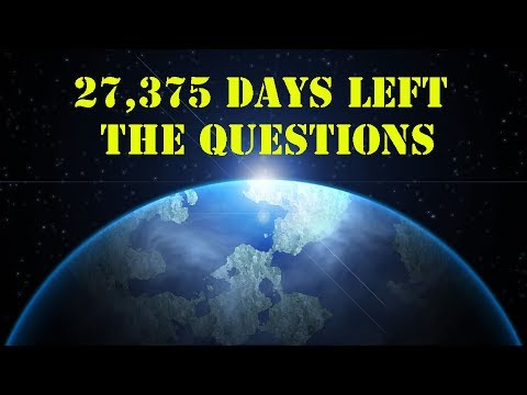 27,375 Days Left - The Questions MOTIVATIONAL VIDEO