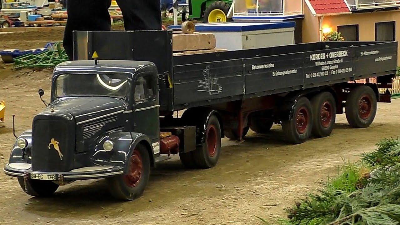 nice rc scale 1 8 oldtimer model truck mercedes benz intermodellbau dortmund 2016 youtube. Black Bedroom Furniture Sets. Home Design Ideas