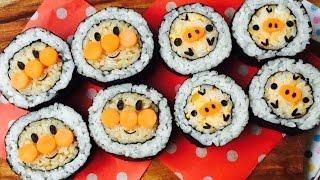 創意食譜~最愛日本菜~麵包超人卷壽司