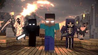 HEROBRINE VE ORDUSU DÜNYAYA SALDIRIYOR (Minecraft Animasyon)