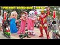 TOPENG MONYET LUCU DI GODAIN BADUT & ROBOT IRON MAN ~ Funny Monkey Attraction
