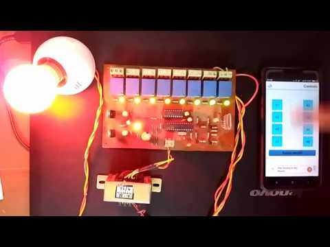 Home Automation using Bluetooth and Android App - Hobby Project