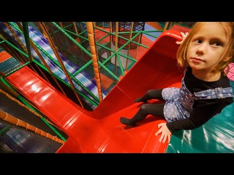 Thumbnail: Fun at Busfabriken Indoor Play Center (playground family fun for kids) #1
