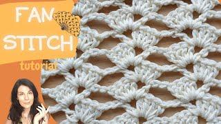Easy Crochet Fan Stitch Ευκολη Πλέξη Βεντάλια με βελονάκι Φιλική προς Αρχάριους Back to Handmade