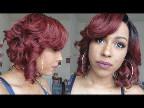 Curly Bob Zury Sis A Line Lace Wig Mika Sombre Rt Copper