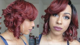 Curly BOB | Zury SIs A-Line Lace Wig- MIKA | SOMBRE RT COPPER |