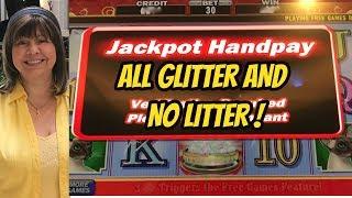 JACKPOT HANDPAY! HIGH LIMIT KITTY GLITTER