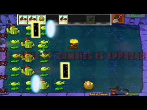Let's Play Plants vs Zombies Mini-Game Portal Combat!