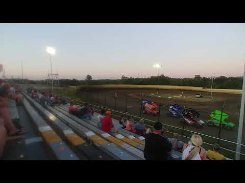 Creek County Speedway 7/20/19 CHAMP Sprint Car Heat 3