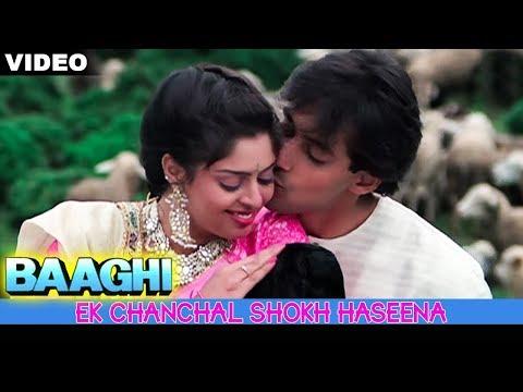 Ek Chanchal Shokh Haseena || Baaghi || 1990 || By SADABAHAR HITS ||