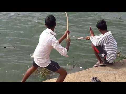 Fish Trap-Catching fish in chembarambakkam lake