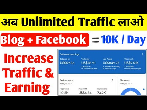 Get Unlimited Traffic From Facebook | How To Increase Blog Traffic From Facebook