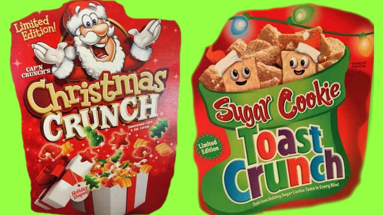 Christmas Crunch Cereal.Christmas Cereal Taste Test Sugar Cookie Crunch Cap N Crunch