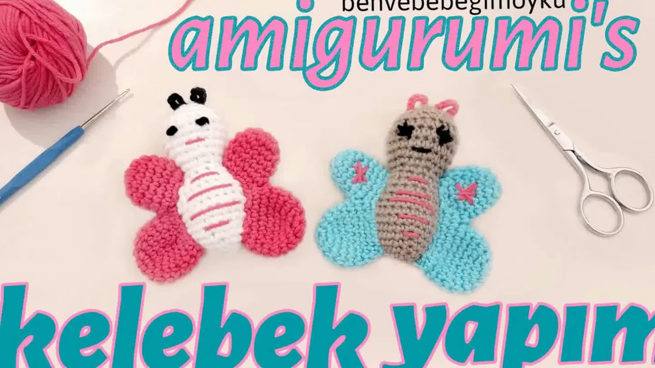 Amigurumi anahtarlık #kelebek #butterfly | Amigurumi modelleri ... | 720x1280
