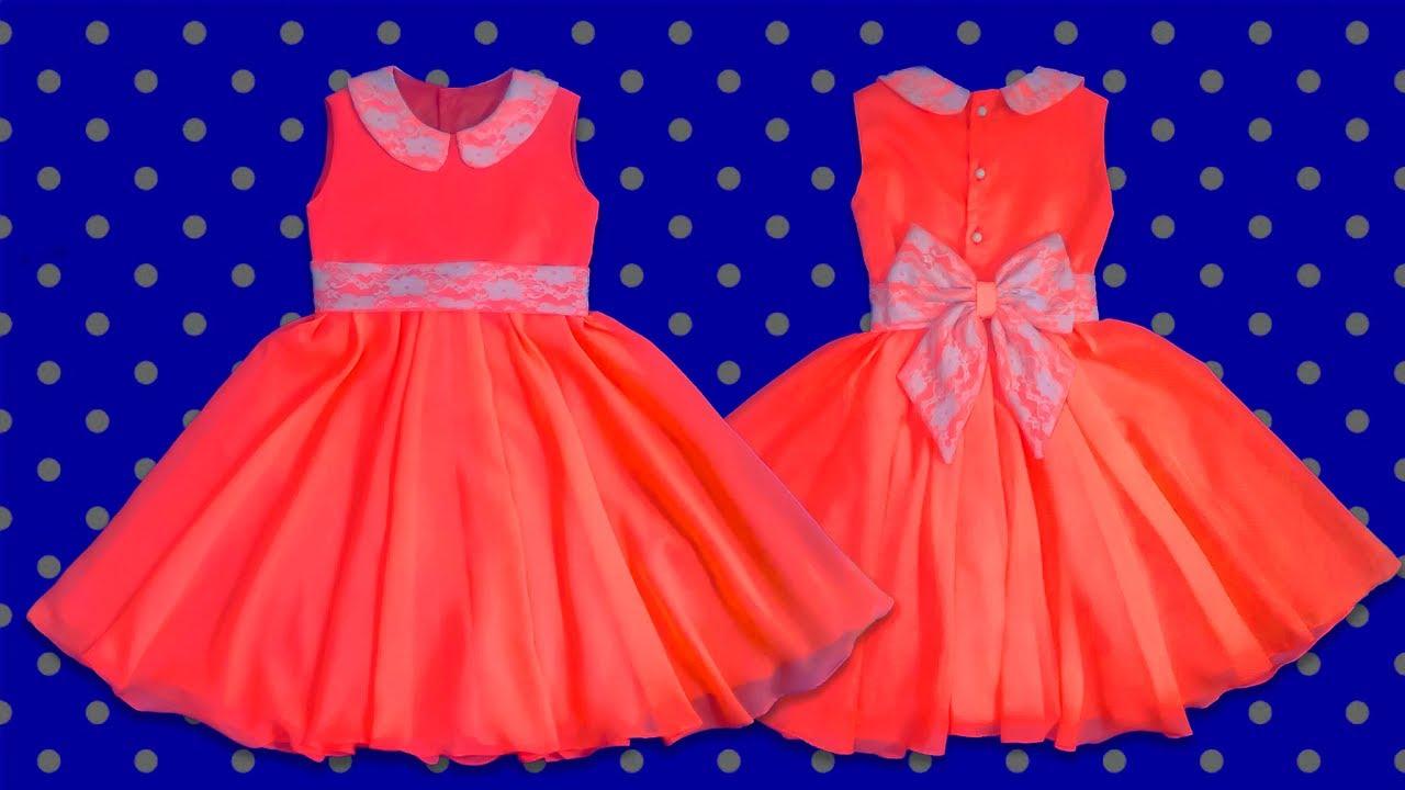 Cómo Hacer Un Vestido De Niña Forrado Patrones How To Make A Girl Dress