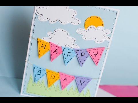 How to Make - Greeting Birthday Card - Step by Step | Kartka Na Urodziny