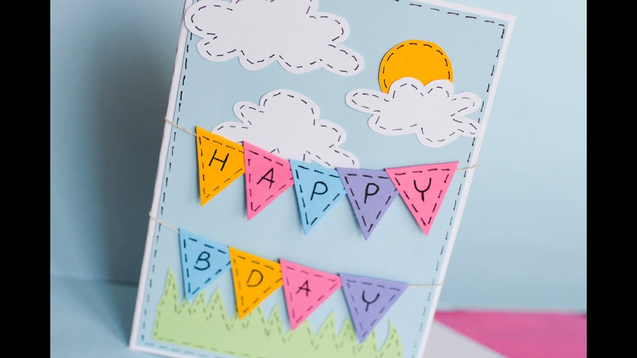 How to make greeting birthday card step by step kartka na how to make greeting birthday card step by step kartka na urodziny youtube m4hsunfo