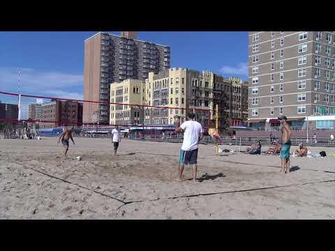 Beach Vball training on Brighton Beach