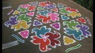 Latest New Year Rangoli designs 2020 Rangoli designs 2020 sankranthi muggulu 2020 Muggulu 2020