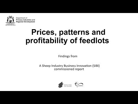 Profitability of feedlots   Department of Agriculture and Food WA