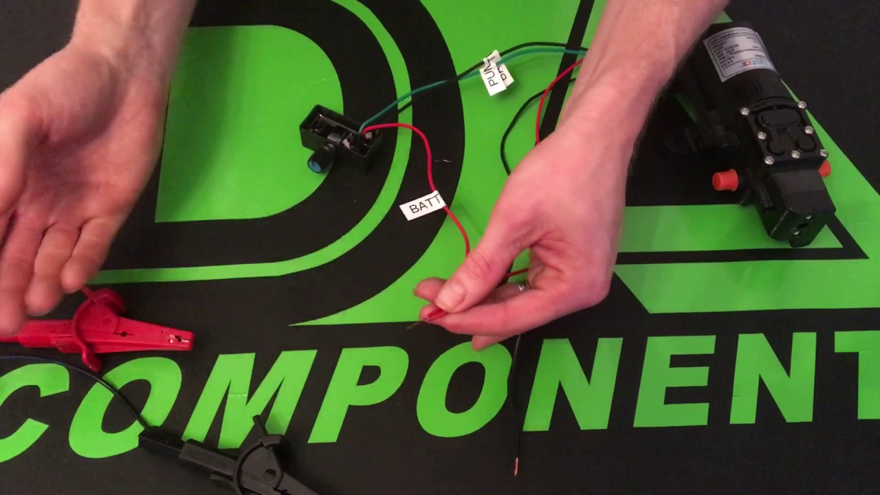 How To Wire Up Small 12v Water Pump And Mini Controllers Youtube Controller Wiring Diagram