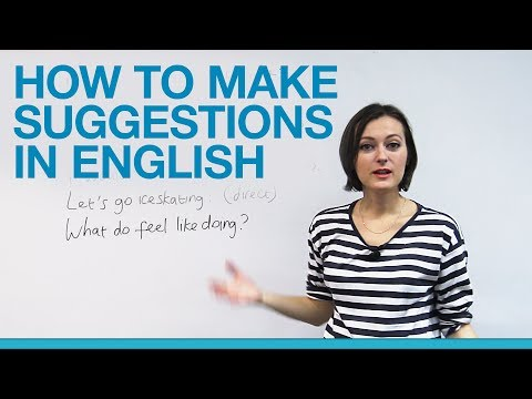 How to make suggestions in English