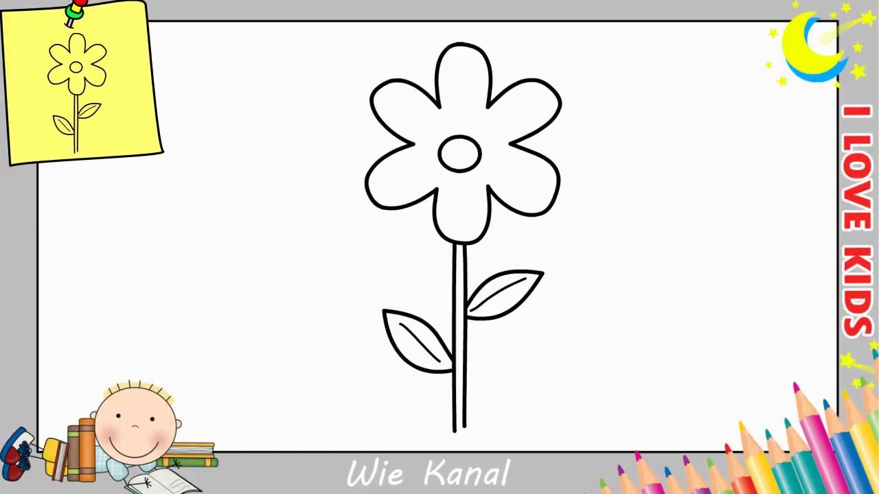 Blume Zeichnen Lernen Einfach Schritt Für Schritt Für Anfänger