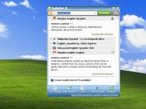 Babylon Pro 8 One Click Translation  From Any Language To Any Language