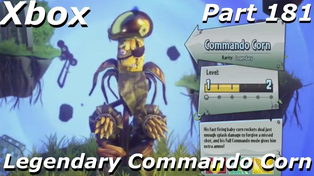 Plants vs Zombies GW 2 - Legendary Commando Corn Gameplay ...