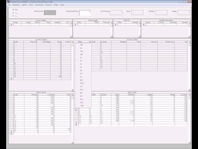 CalcPlus 3.2 Manual Hydraulic Calculation Input