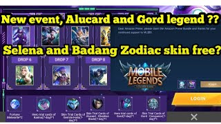New Event Mobile Legends! Legend Alucard amp Gord for free Selena and Badang Zodiac