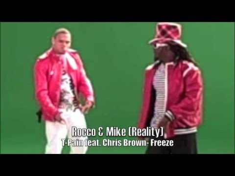 "T-Pain Feat. Chris Brown- Freeze (Behind The Scenes At Video Shoot) ""Rocco & Mike Reality"""