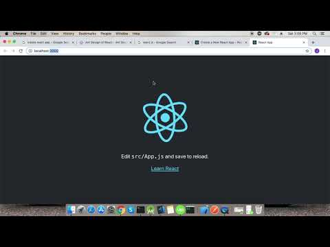 React js - Introduction with making fist project thumbnail